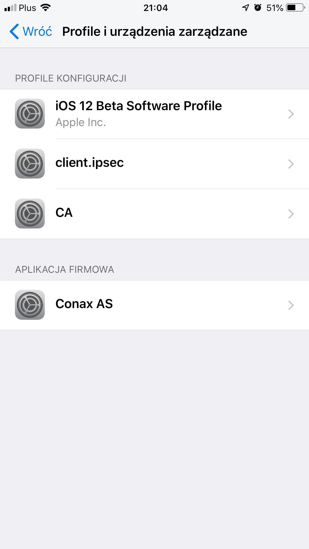 Iphone instalacja nowego profilu