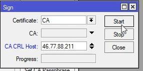 Mikrotik podpisywanie certyfikatu CA