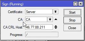 Mikrotik podpisywanie certyfikatu serwera