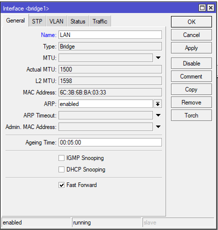 Mikrotik konfigurowanie Bridge