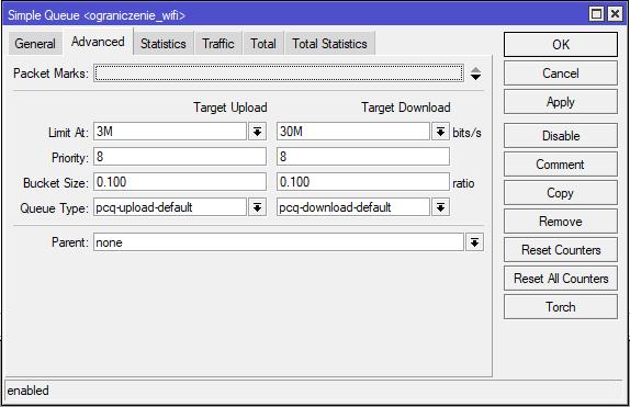 Mikrotik konfiguracja Simple Queue dodanie limitów