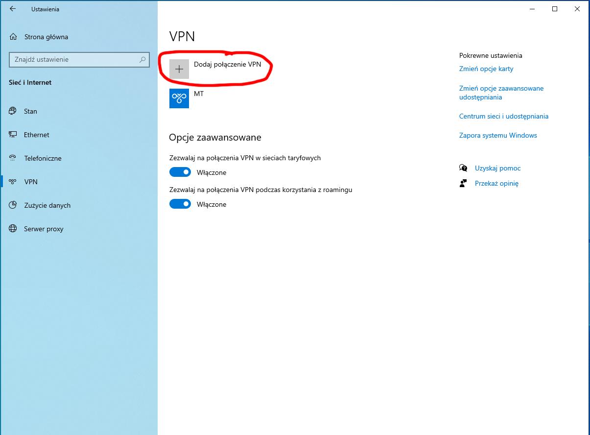 mikrotik vpn serwer l2tp windows10 client