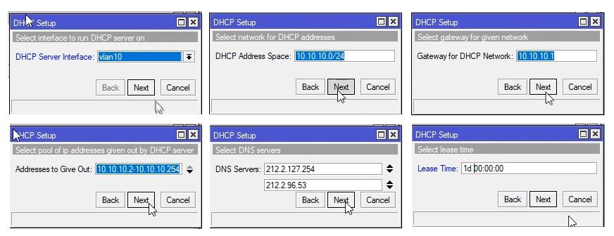 Mikrotik konfiguracja serwera DHCP