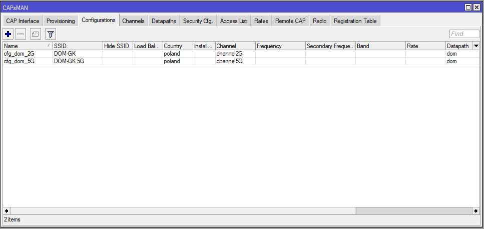 Mikrotik Capsman Configurations