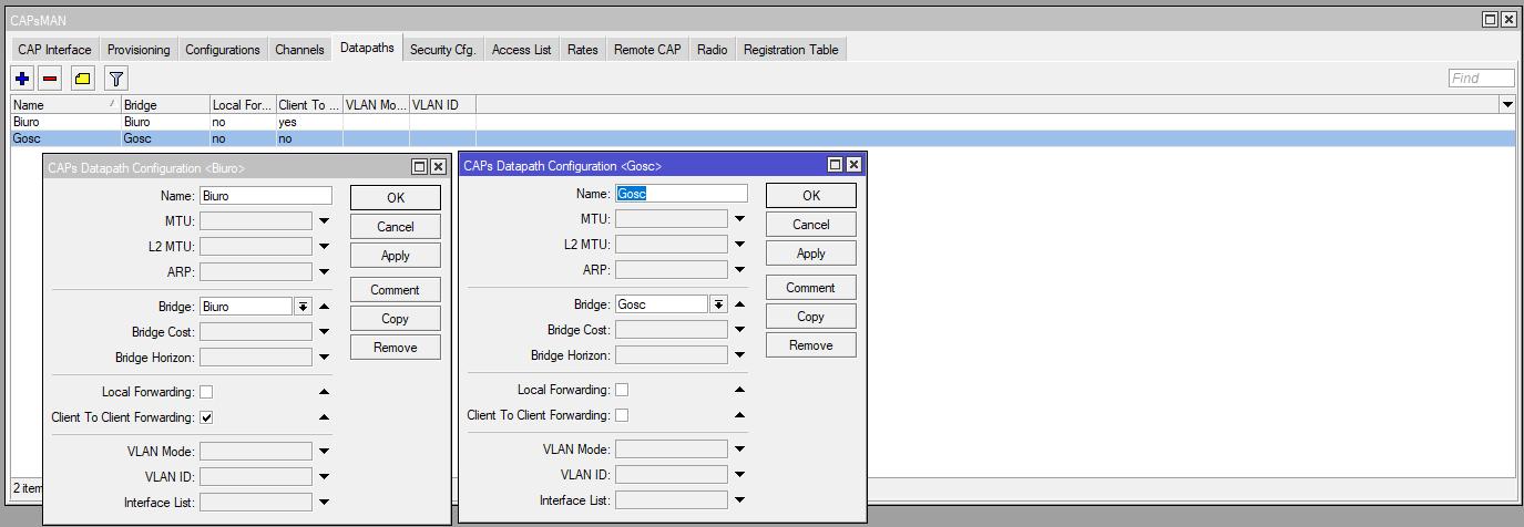 Mikrotik Capsman Datapaths