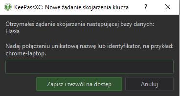Menedzer hasel - KeepassXC